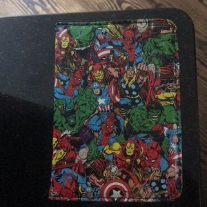 NWOT marvel passport holder with two pockets